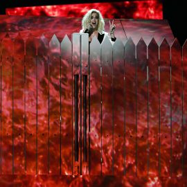 LOS ANGELES, CA - FEBRUARY 12: Recording artist Katy Perry performs onstage during The 59th GRAMMY Awards at STAPLES Center on February 12, 2017 in Los Angeles, California.   Kevork Djansezian/Getty Images/AFP