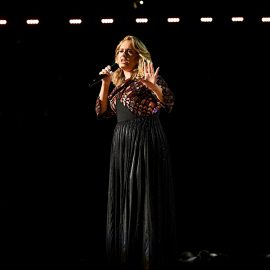 LOS ANGELES, CA - FEBRUARY 12: Recording artist Adele performs onstage during The 59th GRAMMY Awards at STAPLES Center on February 12, 2017 in Los Angeles, California.   Kevork Djansezian/Getty Images/AFP